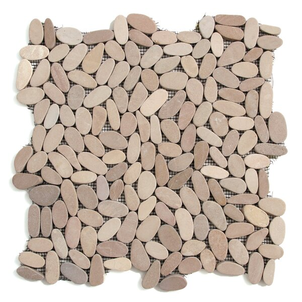 Decorative Pebbles Random Sized Natural Stone Pebble Tile in Madura Sands by Solistone