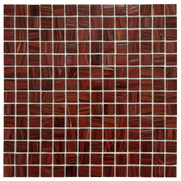 Fused 0.75 x 0.75 Glass Mosaic Tile in Auburn by EliteTile