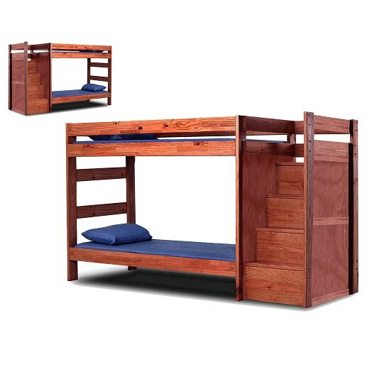 Christiansen Twin Over Twin Standard Bunk Bed with Drawers by Harriet Bee