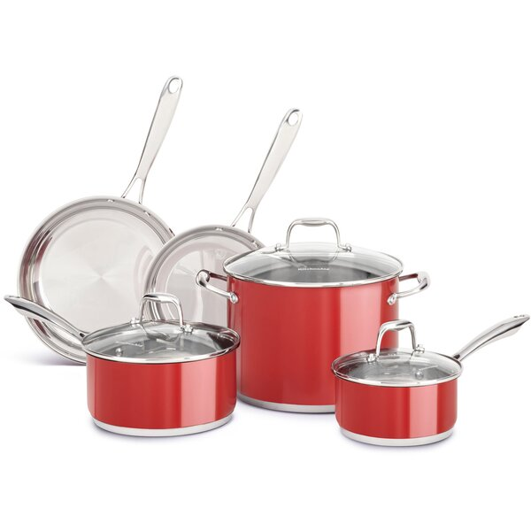 8-Piece Stainless Steel Cookware Set by KitchenAid