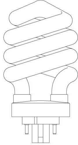 Spiral Lamp Bulb by Forte Lighting