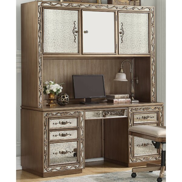 Mapleville Solid Wood Executive  with Hutch