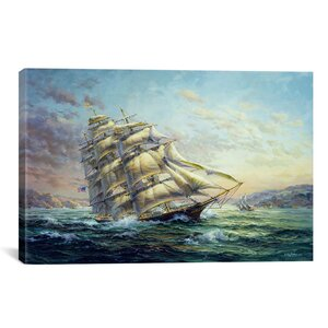 Decorative Clipper Ship Surprise by Nicky Boehme Painting Print on Canvas by iCanvas