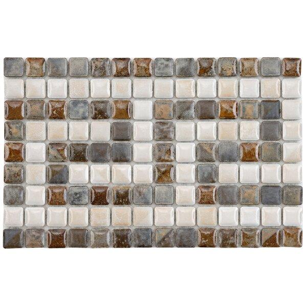 Samoan Greek Key 0.56 x 0.56 Porcelain Mosaic Tile in Gray/Brown by EliteTile