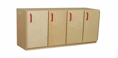 1 Tier 4 Wide Home Locker by Wood Designs
