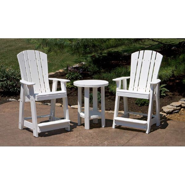 Patricia Plastic Adirondack Chair Set with Table by Rosecliff Heights Rosecliff Heights
