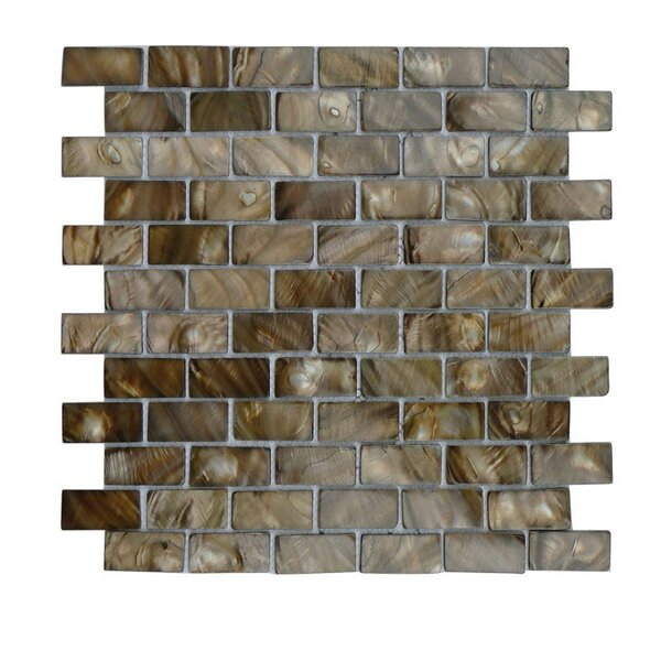 Glass Mosaic Tile in Brown/Gray by QDI Surfaces