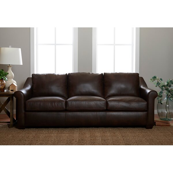 Potrero Leather Sofa By Charlton Home 2019 Sale