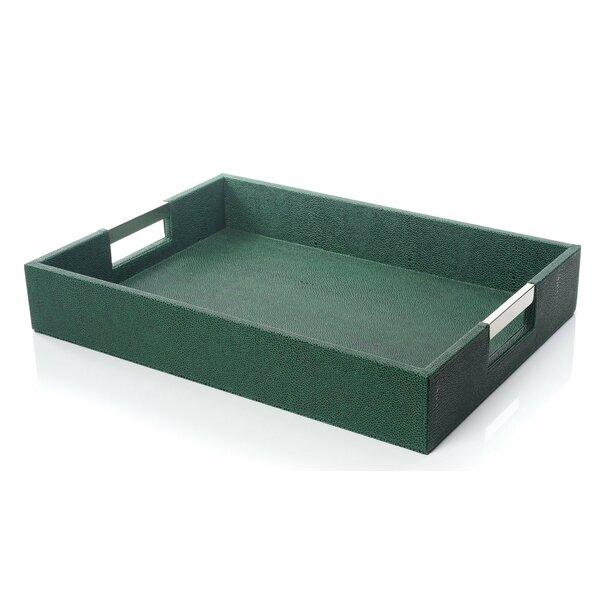 Medora Leather Serving Tray by Everly Quinn