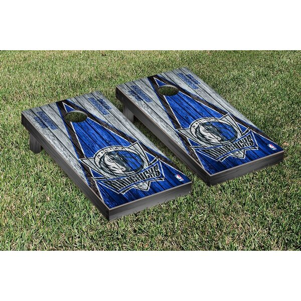 Nba Triangle Weathered Version Cornhole Game Set By Victory Tailgate.