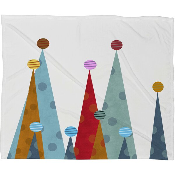 Brian Buckley Winter Peaks Plush Fleece Throw Blanket by Deny Designs