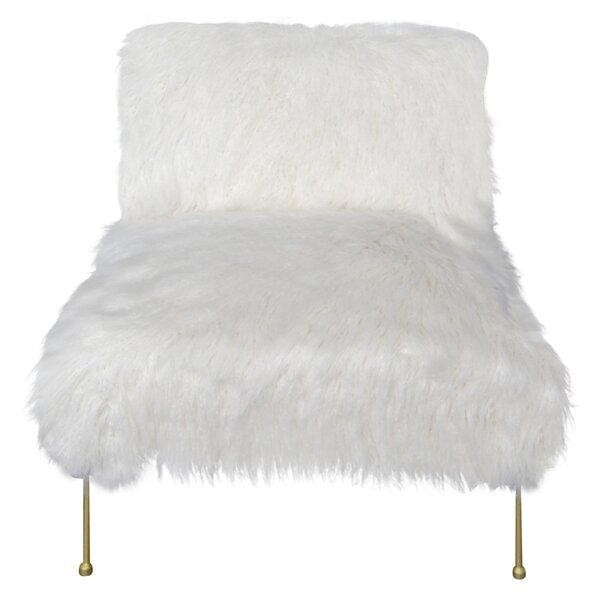 Kourtnee Slipper Chair by Everly Quinn