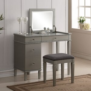 Balamore 2 Piece Vanity Set with Mirror by Darby Home Co