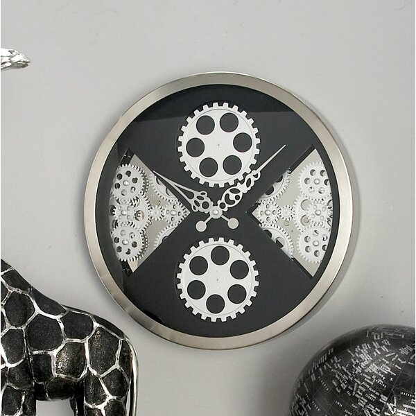 Stainless Steel Gear 16 Wall Clock by Cole & Grey