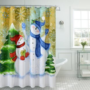 Coupon Christmas Greetings Sweetie Shower Curtain ByThe Holiday Aisle