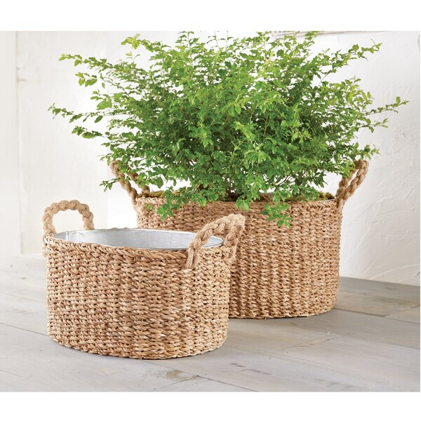 Seagrass Party Planter 2 Piece Beverage Tub Set by Mud Pie™
