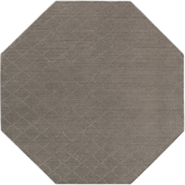 Huxley Gray Area Rug by Charlton Home