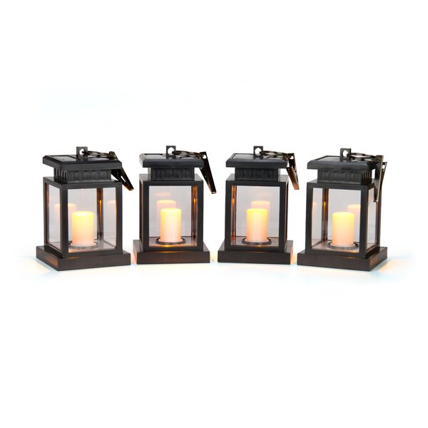 Harriette LED Solar Hanging Umbrella Lantern Candle Lighting (Set of 4) by Andover Mills
