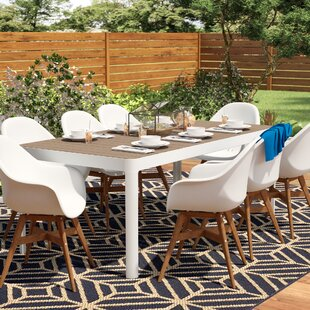 Draco 9 Piece Patio Dining Set By Mercury Row