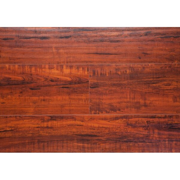 6.5 x 48 x 12mm Oak Laminate Flooring in Rosewood by Chic Rugz