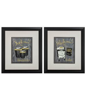 'Sort Wash' 2 Piece Framed Graphic Art Set by Propac Images