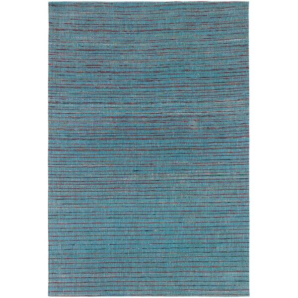 Cabarley Dhurrie Blue Area Rug by Latitude Run