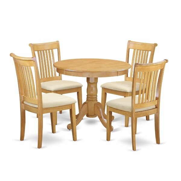 Asher 5 Piece Breakfast Nook Dining Set by August Grove