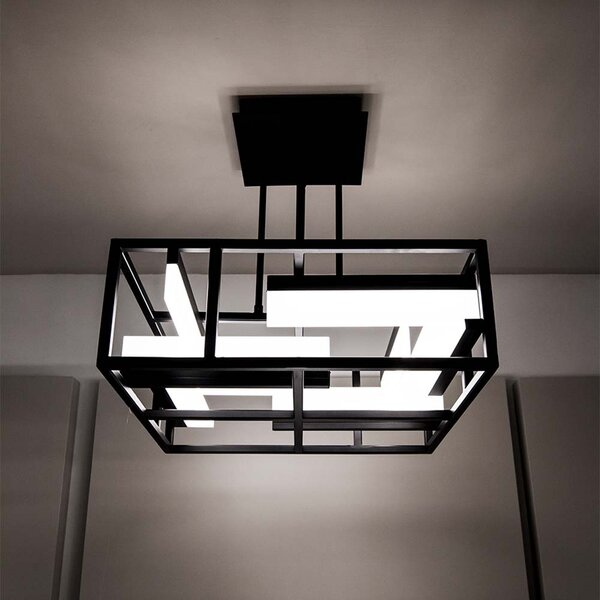 Memory 1-Light Unique / Statement Rectangle / Square Chandelier By Modern Forms