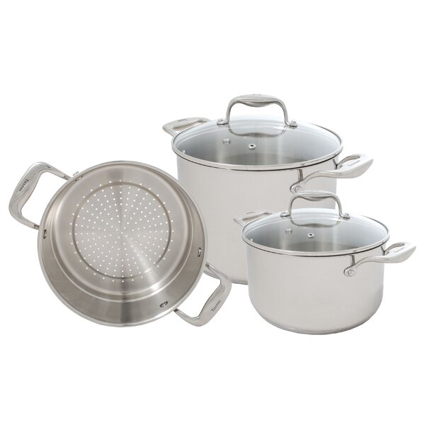 Concentrix 5-Piece Stainless Steel Cookware Set by Tuxton Home