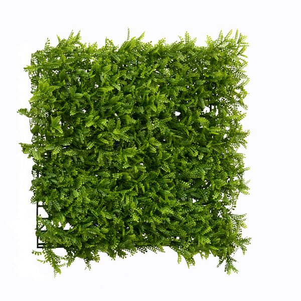 1.5 ft. H x 1.5 ft. W Artificial Leaf Fern Fence Panel (Set of 4) by GreenSmart Dekor