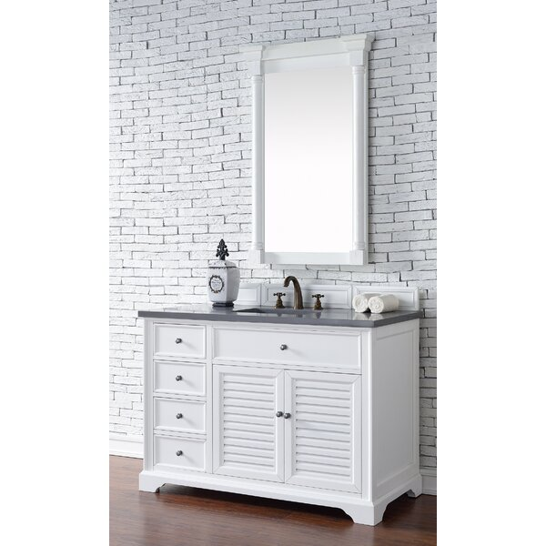 Osmond 48 Single Ceramic Sink Cottage White Bathroom Vanity Set by Greyleigh