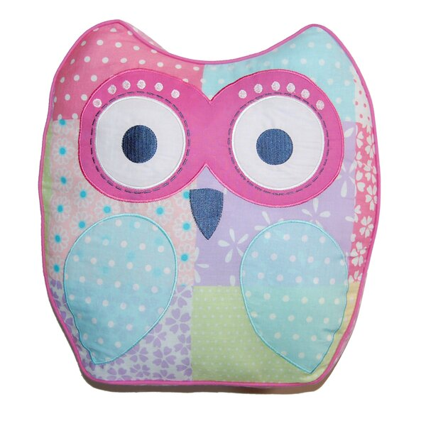 Cute Owl Decorative Cotton Throw Pillow by Cozy Line Home Fashion