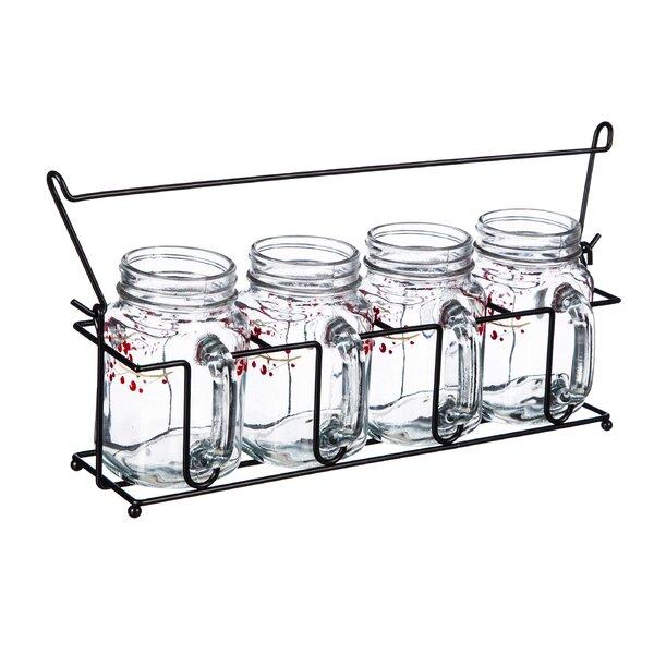 Mingus Holiday Farmhouse 16 oz. Glass Mason Jar by August Grove
