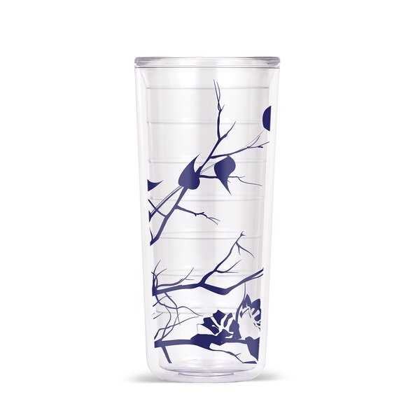 Garret Dogwood Floral 18oz Tritan Travel Tumbler (Set of 4) by Red Barrel Studio
