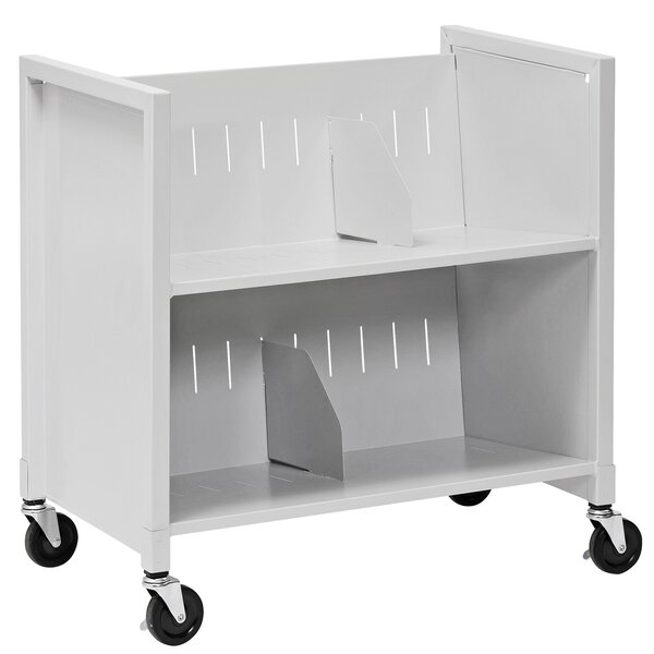 Double-Sided Book Cart by Buddy Products