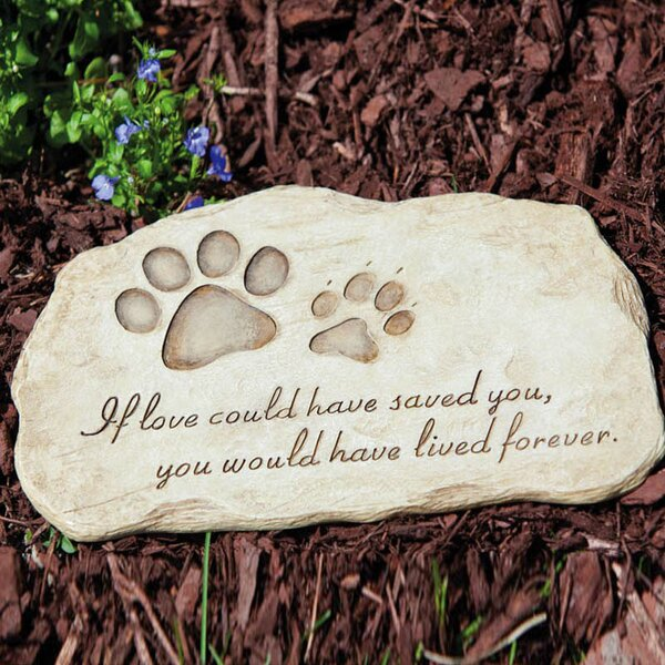 Pet Devotion Garden Stepping Stone by Evergreen Flag & Garden