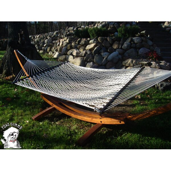 Mindi Super Soft Polyester Rope Hammock with Stand by Red Barrel Studio
