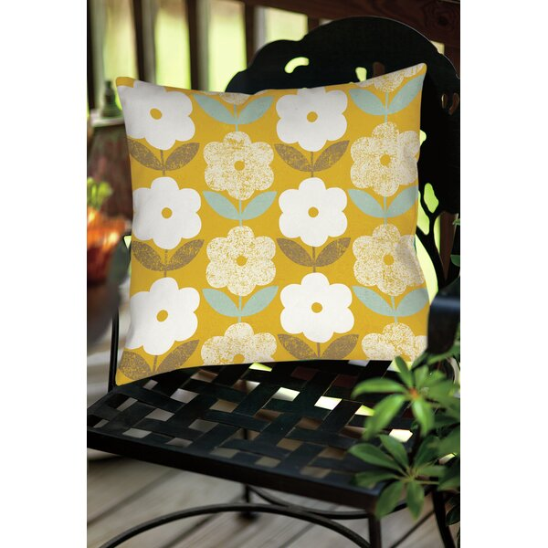 Jar of Sunshine Vintage Indoor/Outdoor Throw Pillow by Manual Woodworkers & Weavers