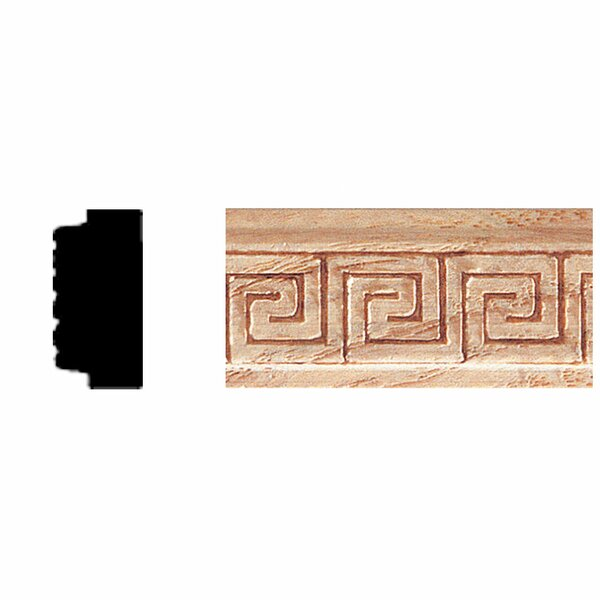3/8 in. x 3/4 in. x 8 ft. Oak Embossed Greek Key Moulding by Manor House