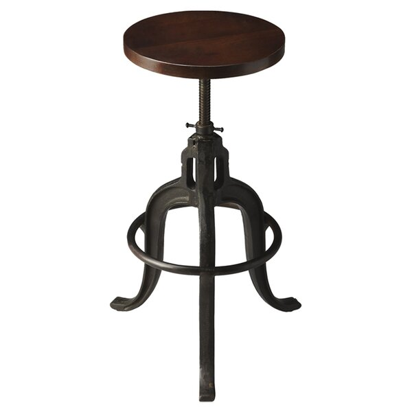 Kendal Adjustable Height Bar Stool by 17 Stories