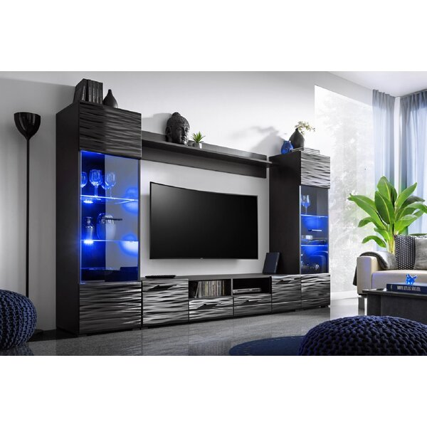 Priebe Entertainment Center For TVs Up To 75