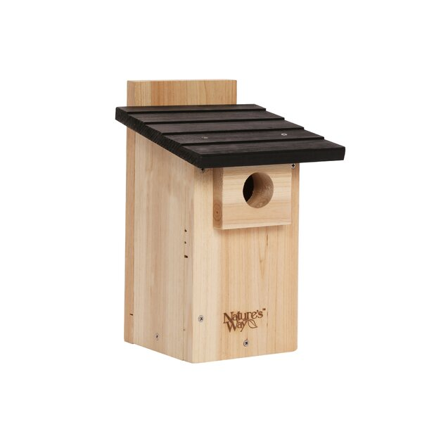 Advanced Bird Products Viewing 12 in x 7.5 in x 8 in Bluebird House by Nature's Way