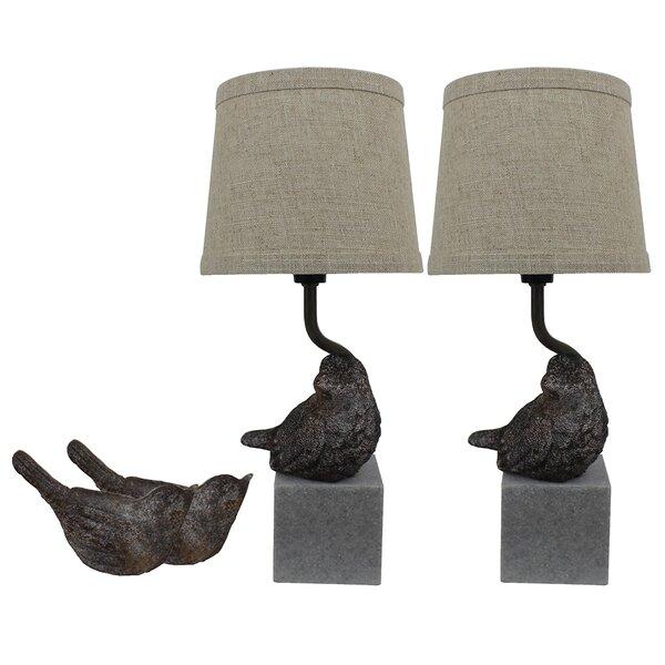 Korin Bird III 14 Table Lamp (Set of 2) by Ophelia & Co.