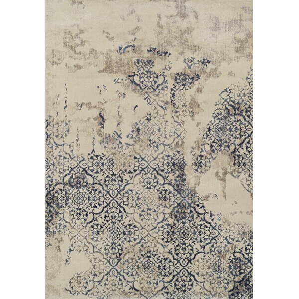 Acahela Navy Area Rug by Bungalow Rose