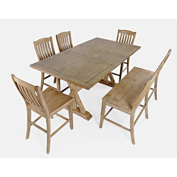 Laron Crossing 6 Piece Solid Wood Dining Set by Ophelia & Co. Ophelia & Co.