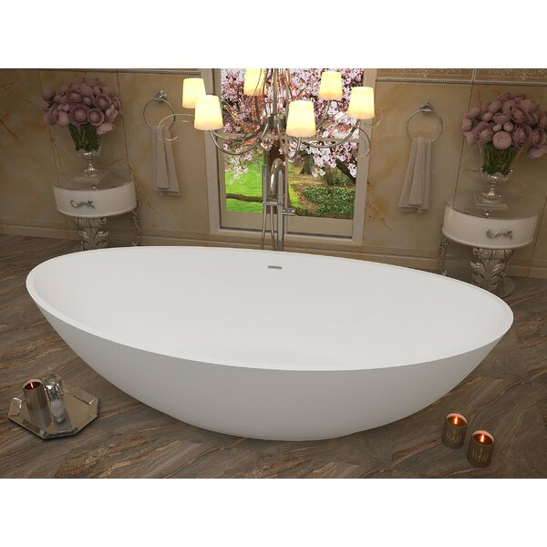 Ala 74.4 x 33.5 Freestanding Soaking Bathtub by ANZZI