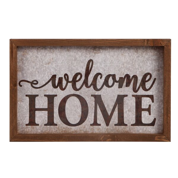 Tin and Timber - Welcome Home Wall Décor by Gracie Oaks