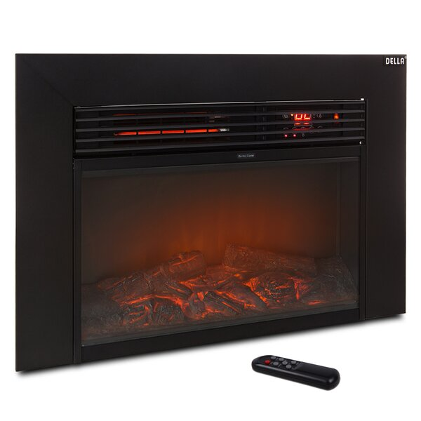 Embedded Electric Fireplace Insert by Della
