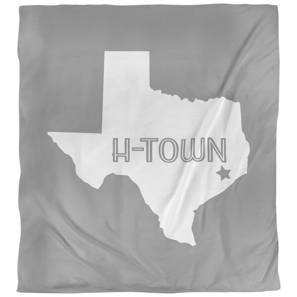 H-Town Texas Single Reversible Duvet Cover