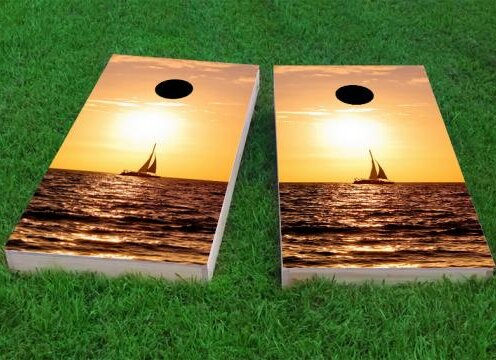 Sailboat Cornhole Game (Set of 2) by Custom Cornhole Boards